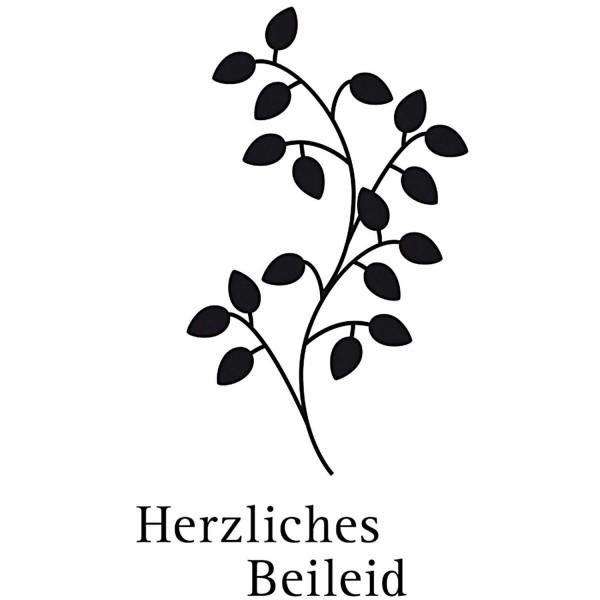 """Stempel """"Herzliches Beileid"""""""