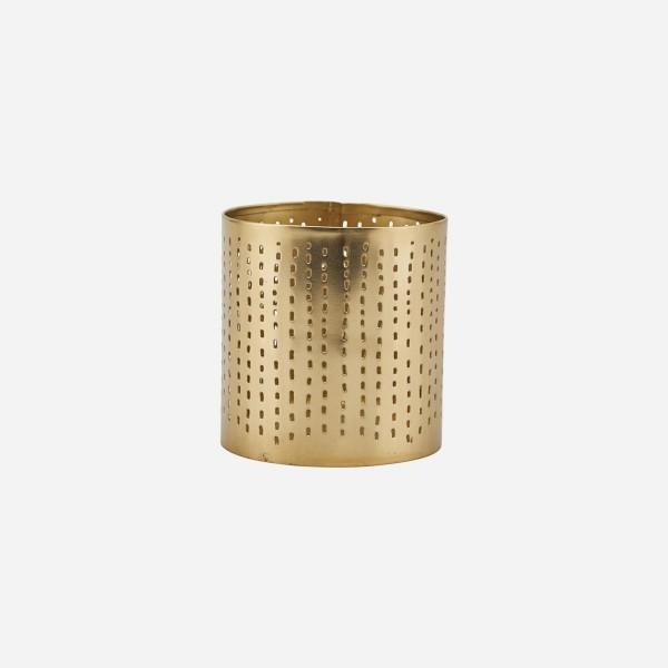 Teelichthalter Wilma, Brass finish