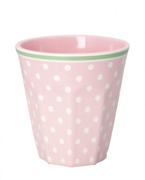 Greengate Melamin Mug Spot pale pink