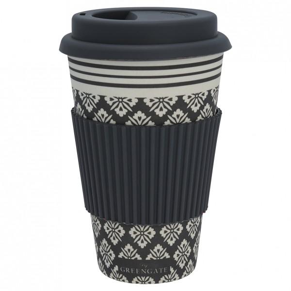 Travel mug/Thermobecher Jackie dark grey von Greengate