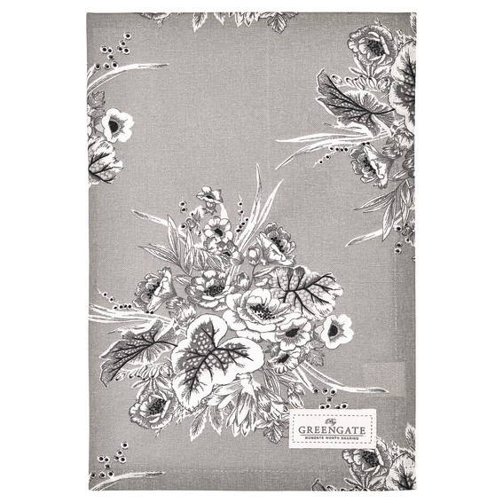 Tea towel Felicity grey von Greengate