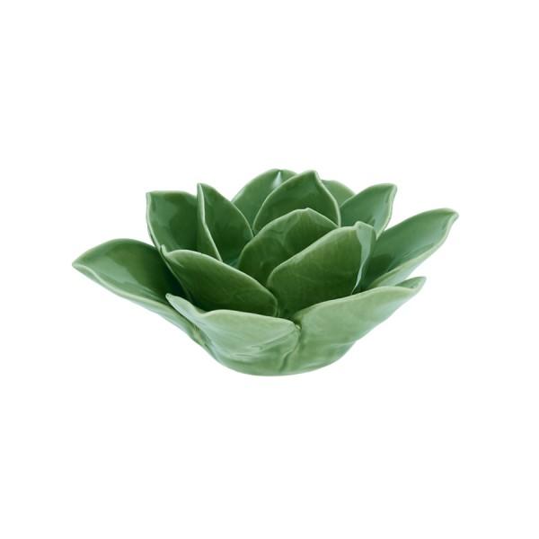Teelichthalter Blume grün von Greengate