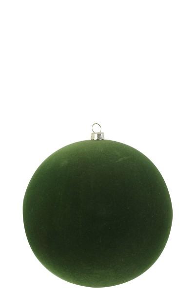 Weihnachtskugel samt grün