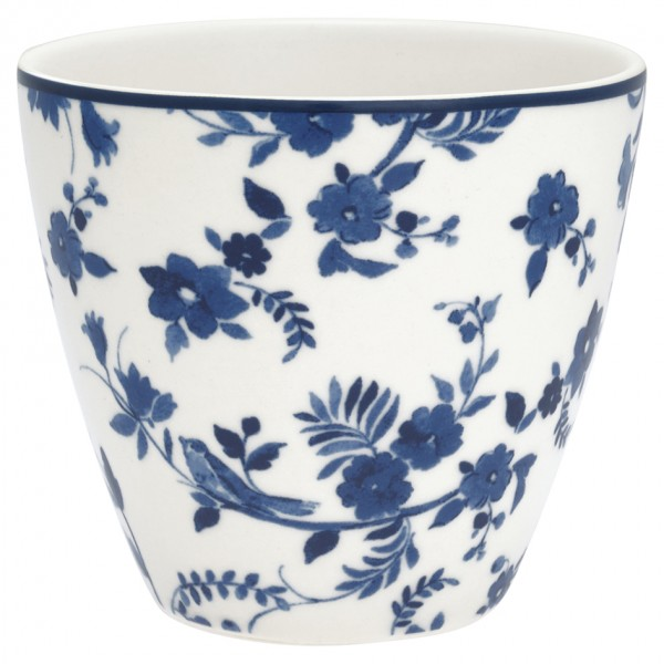 Latte cup Vanessa blue