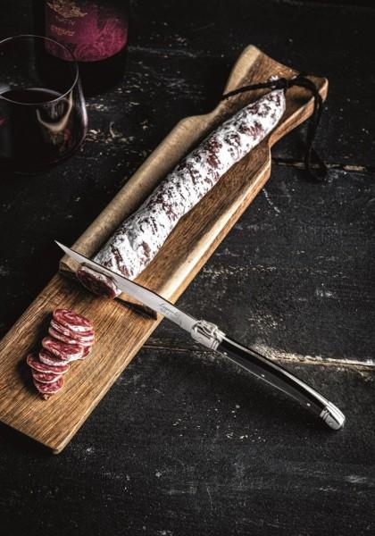 Wurstbrett mit Messer Akazienholz