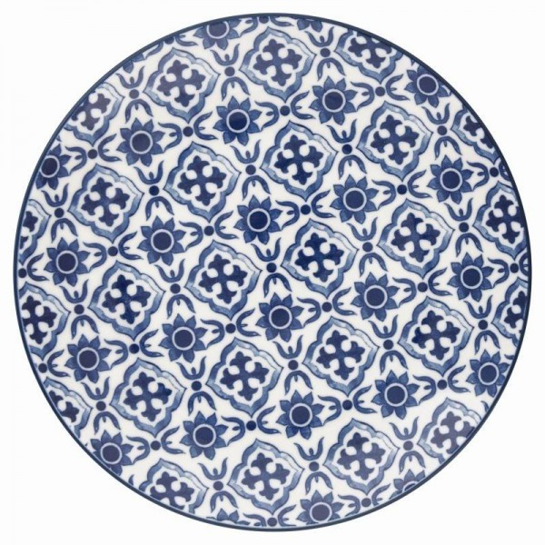 Stoneware Plate Hope Blue von Greengate