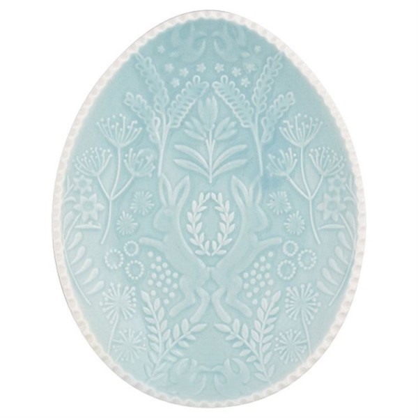 Oval plate pale green von Greengate