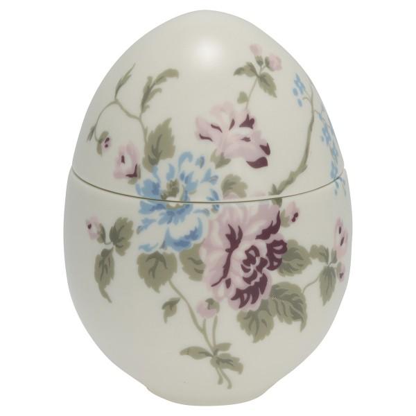 Porzellan-Ei zum Aufklappen Maude white