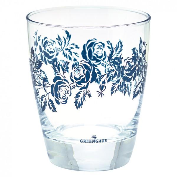 Wasserglas Fleur blue