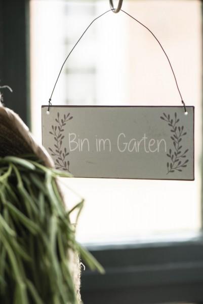 Schild Bin im Garten IB Laursen