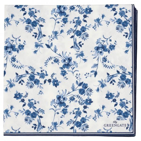 Papierservietten 33x33 Vanessa blue 20 Stück