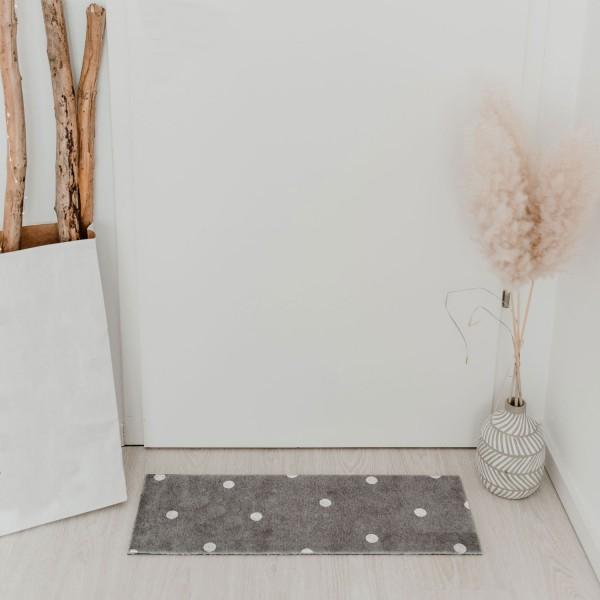 Fußmatte weiße Punkte waschbar 75x25