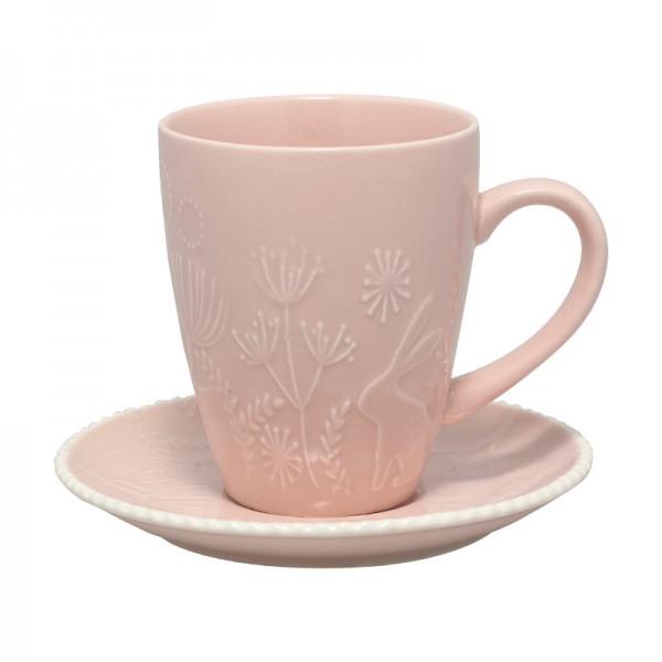 Tasse mit Untertasse Evy pale pink von Greengate