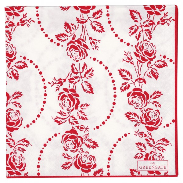 Papierservietten 33x33 Fleur red 20 Stück