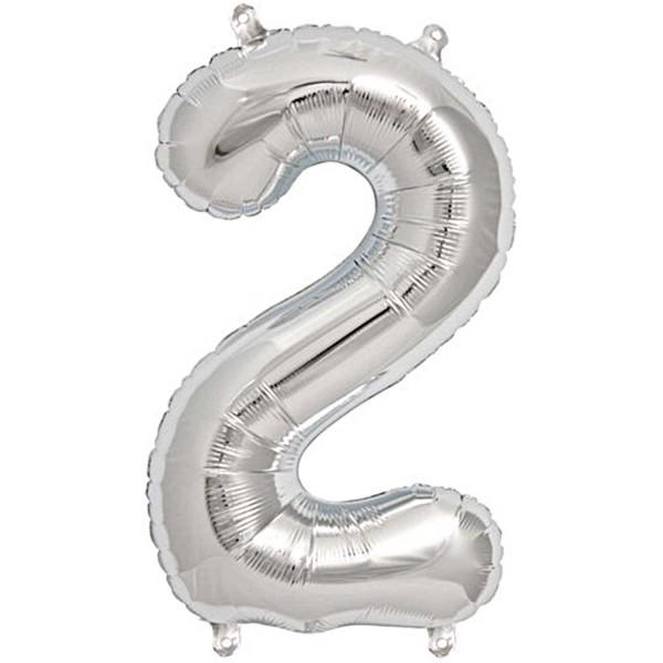 Folienballon Zahl silber