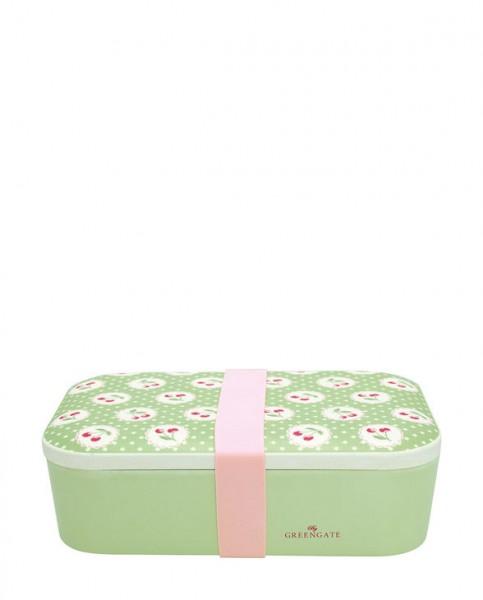 Greengate Brotdose Cherry berry pale green