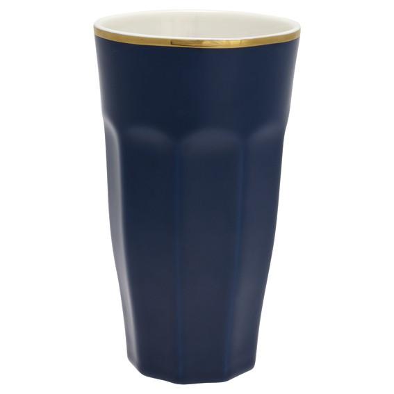 French latte dark blue w/gold von Greengate