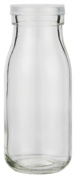 Glas mit klarem Plastikdeckel, 250 ml