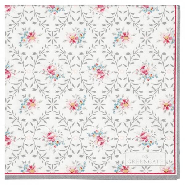 Papierservietten 25x25 Daisy pale grey 20 Stück