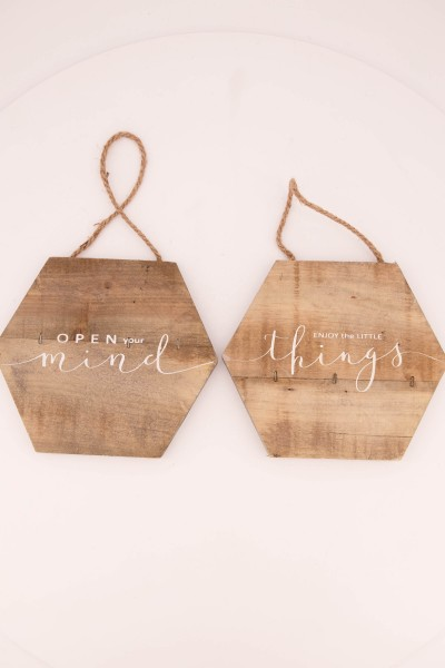Holzschild 20x20x1,5cm
