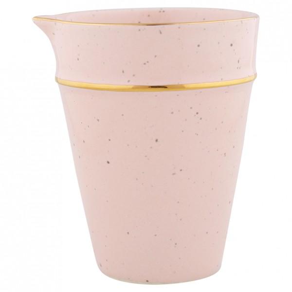 Kännchen pale pink mit Goldrand
