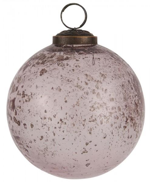 Weihnachtskugel pebbled Glas rosa