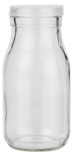 Glas mit klarem Deckel, 210 ml