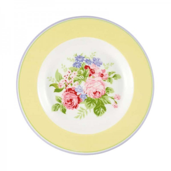 Small plate Rose pale yellow von Greengate