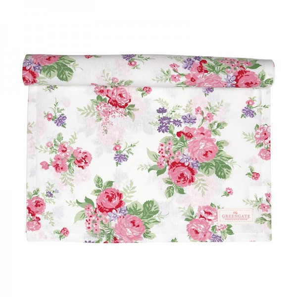 Table Runner Rose white