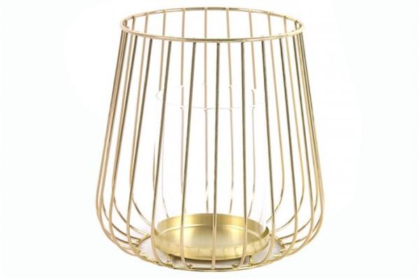 Teelicht Metall Gold