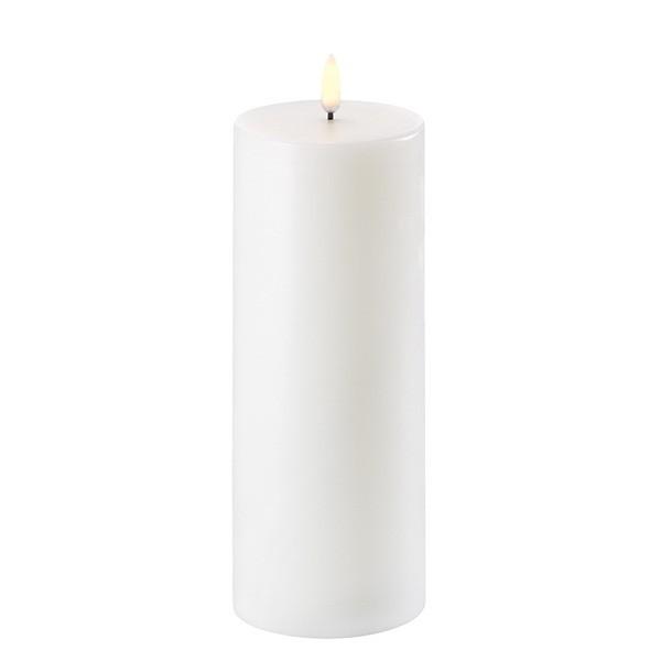 Uyuni LED Candle 7,8 x 20 cm Nordic white