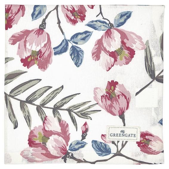 Napkin Magnolia white von Greengate