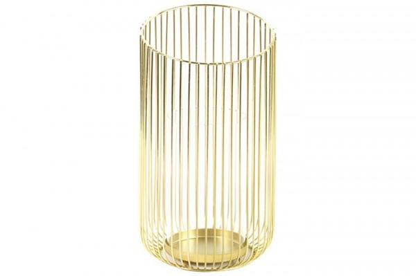 Teelicht Metall Gold L