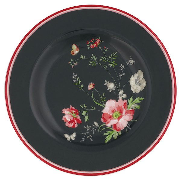 Small Plate Meadow Black von Greengate