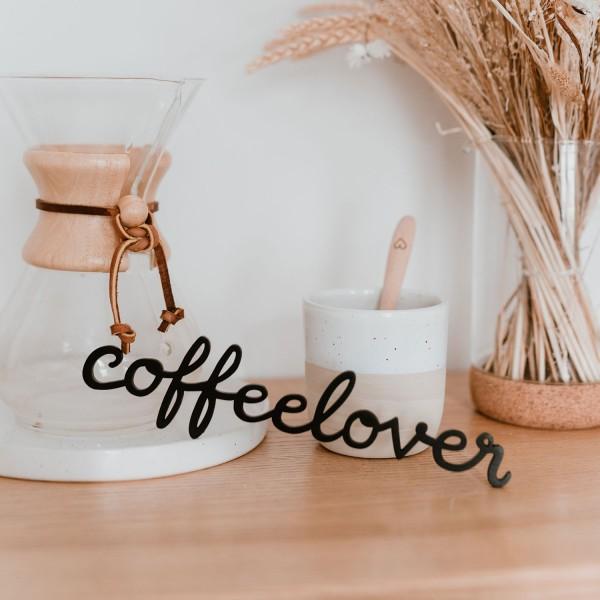 Holzschriftzug Coffeelover 26x6cm