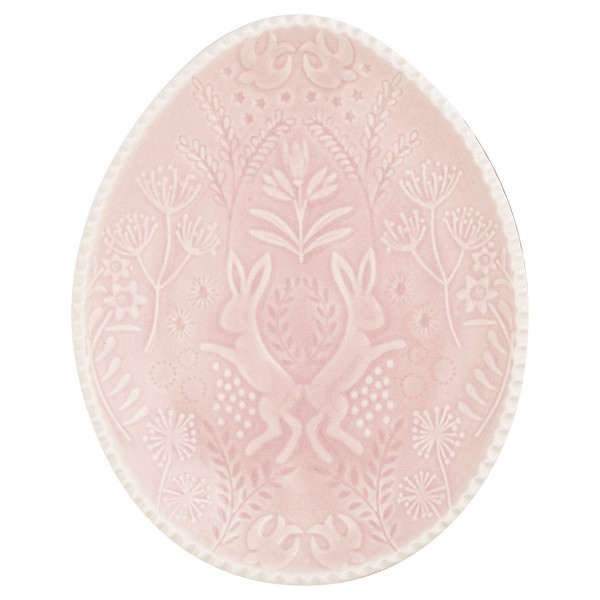 Teller oval pale pink