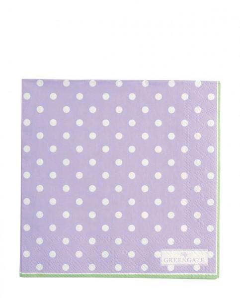 Greengate Paper Napkin Spot Lavender
