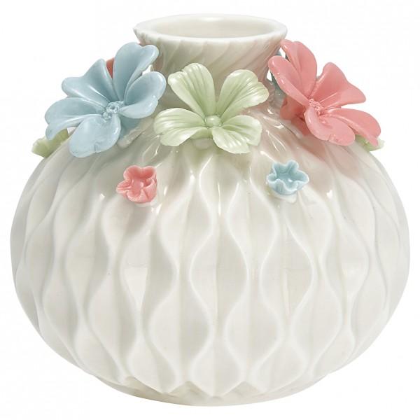 Vase Flower multicolor round medium