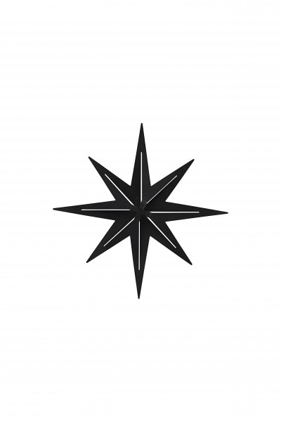 Ornament Stern Gunmetall
