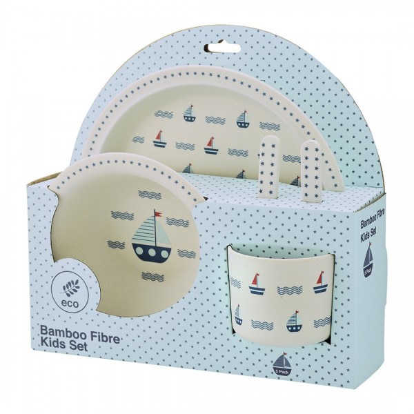 Kids dinner set Noah blue von Greengate