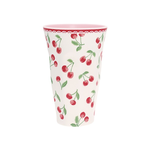 Melamine Tall Cup Cherry white von Greengate