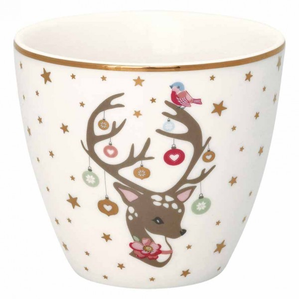 Latte cup Dina white von Greengate