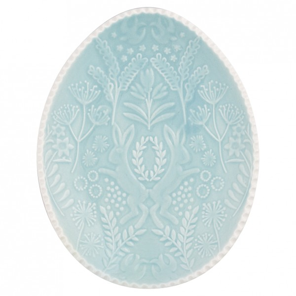 Teller oval pale green