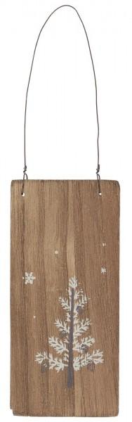 Holzschild weißer Tannenbaum von Ib Laursen