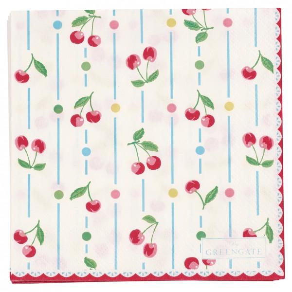 Papierservietten 25x25 Cherry white 20 Stück