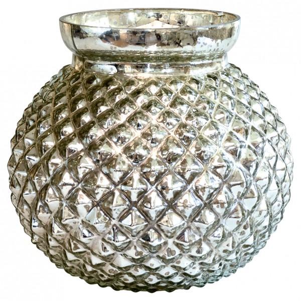 Vase round silver