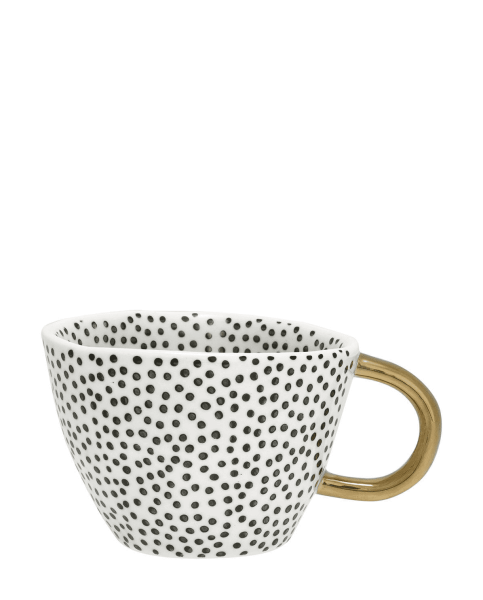 Henkeltasse Dot black w/gold von Greengate