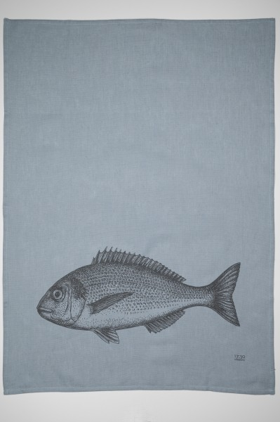 "Geschirrtuch Halbleinen ""Fish"""