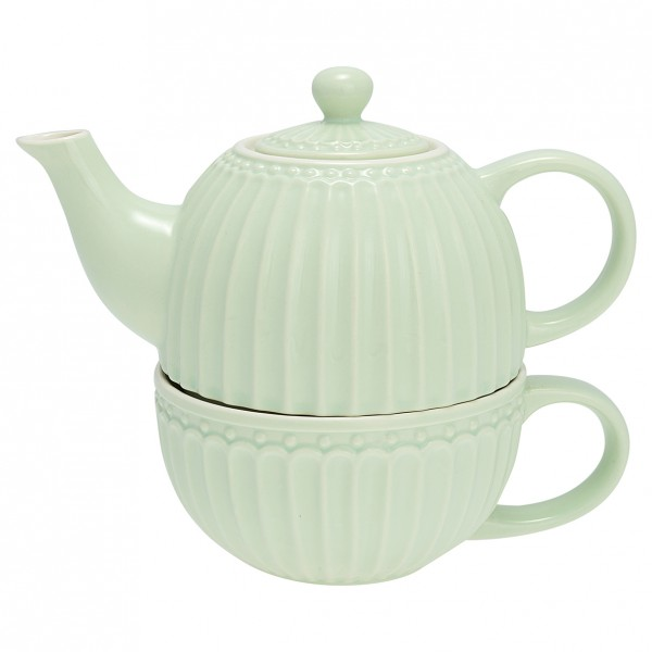 Tea for one Alice pale green