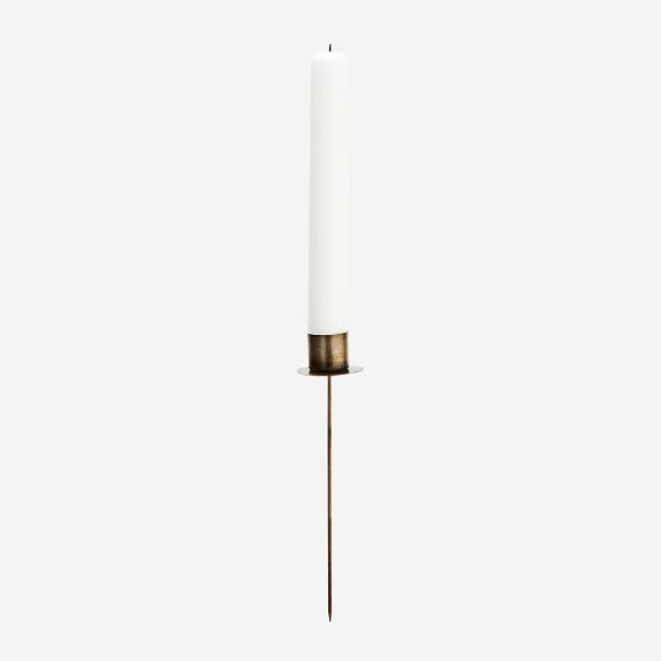 Kerzenhalter mit Spieß, antik gold